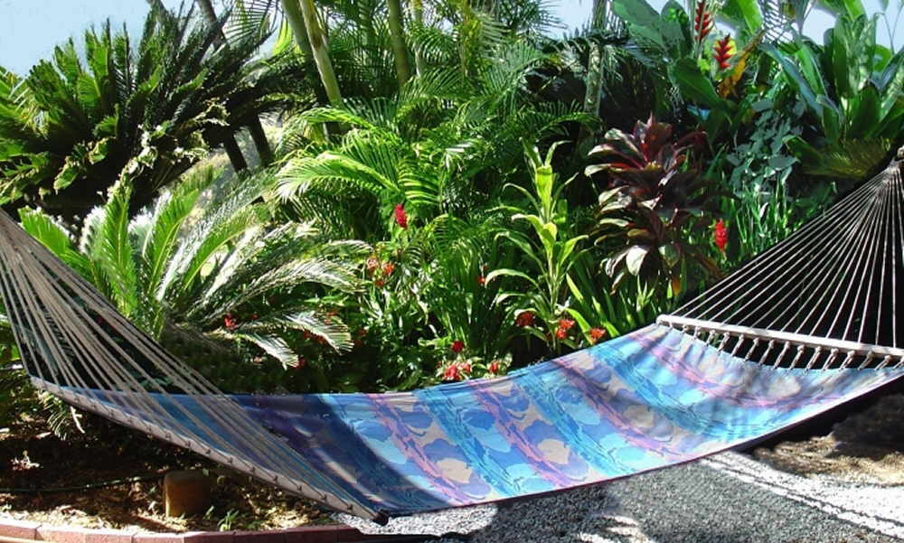Hammock in Maui vacation rental private tropical garden
